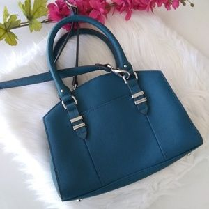 Tignanello Navy Blue Saffiano Leather Handbag